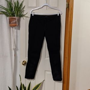 Black Casual Straight Pant